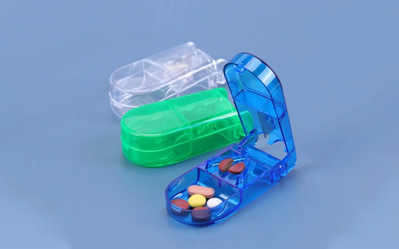 Safety Shield Pill Cutter and Medicine Case