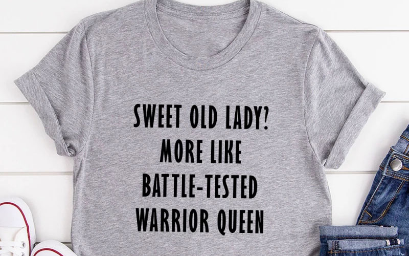 Sweet old lady t-shirt