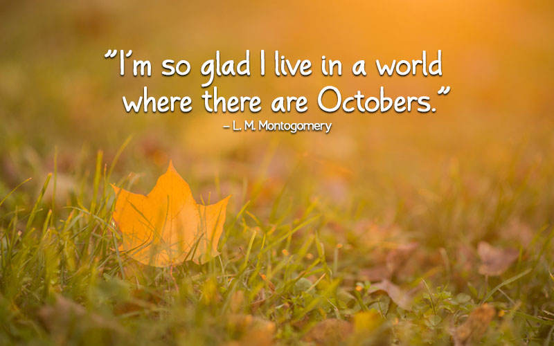 October Quotes from anne of green gables