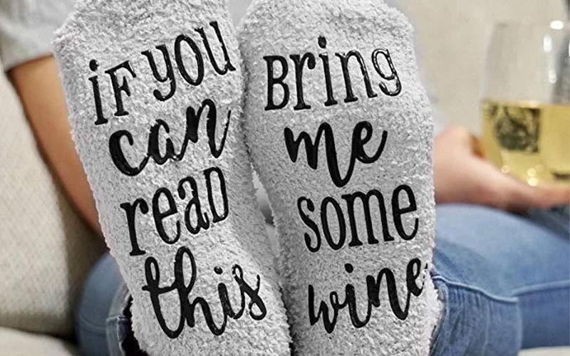 Wine Lover Custom Thermal Socks