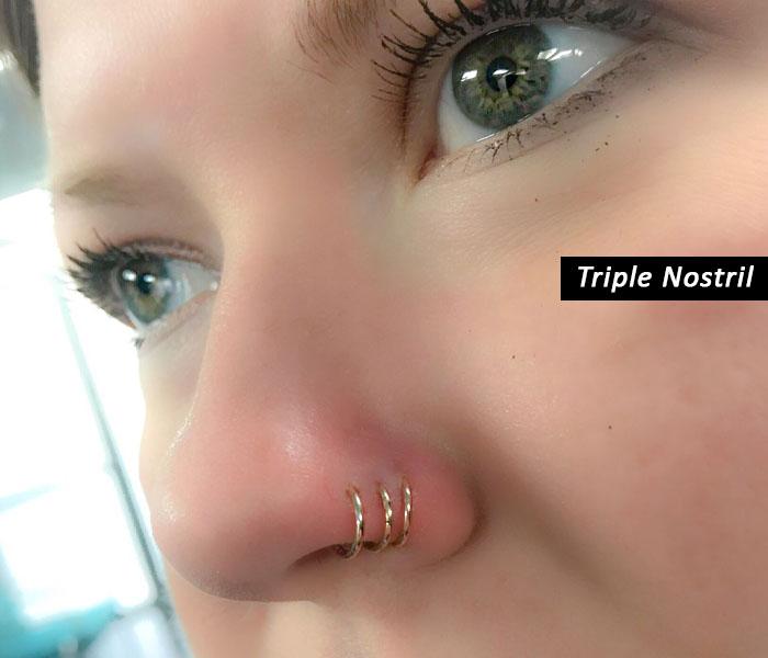 triple hoop nose