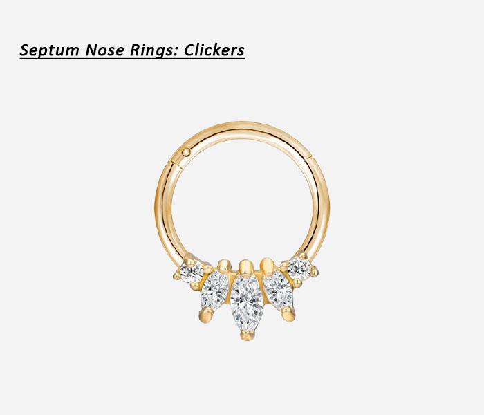 types of septum rings