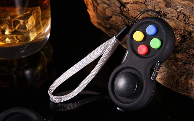 8-operation Fidget Pad Controller Toy For Dexterity & Stress Release