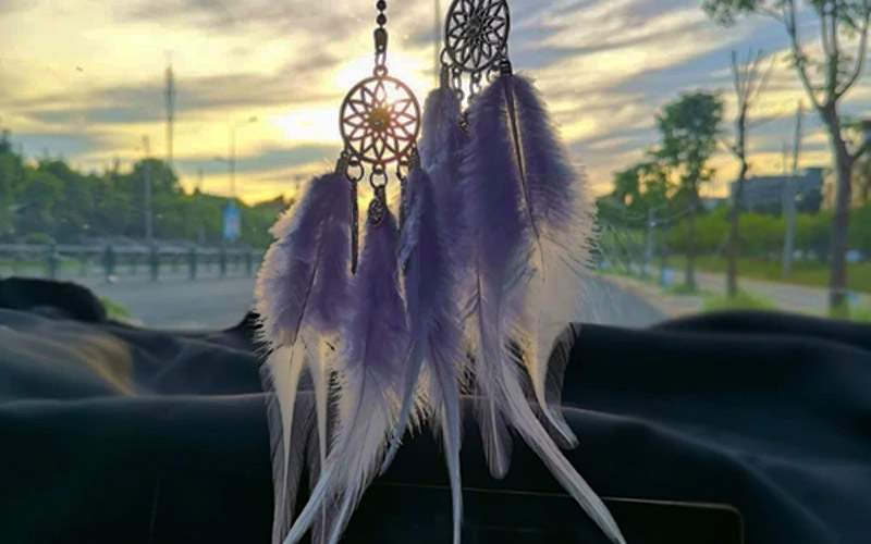 Hanging Dreamcatcher Feather Ornament