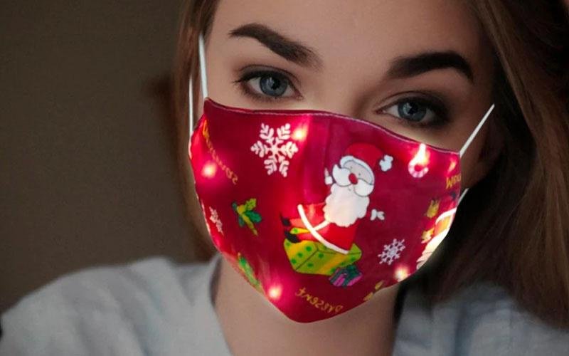 LED Glowing Christmas Mask