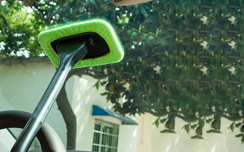 Microfiber Car Window Cleaner Wand For Interior & Exterior Cleaning