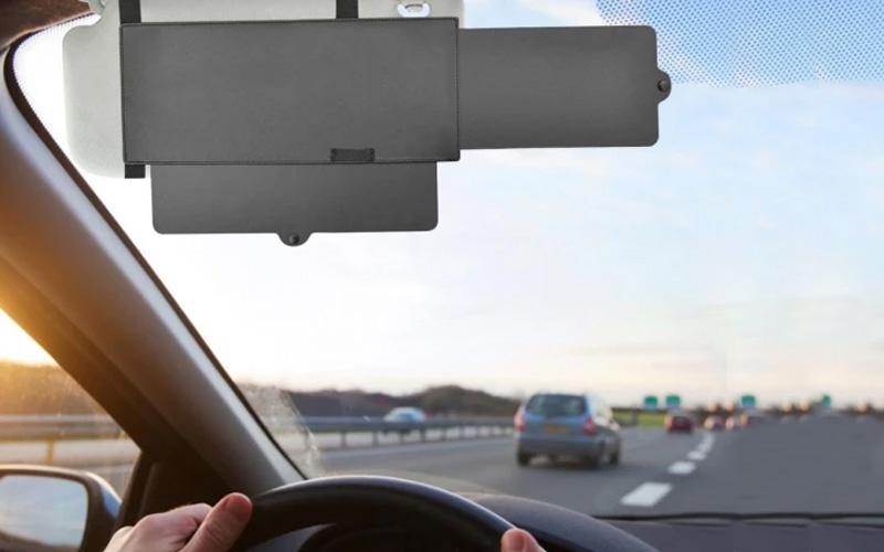 Opaque Car Sun Visor Extender Clip-On
