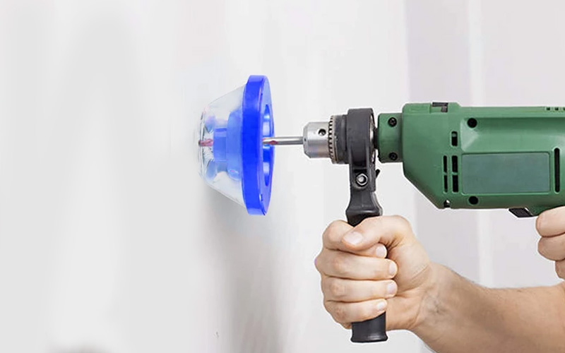 Removable Electric Drill Dust Collector Attachment