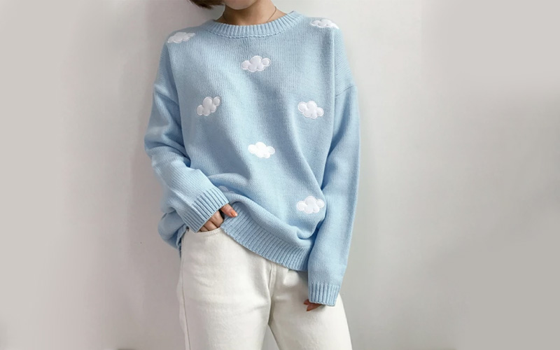 Unisex Knitted Cloud Sweater