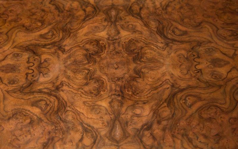 Walnut burl wood