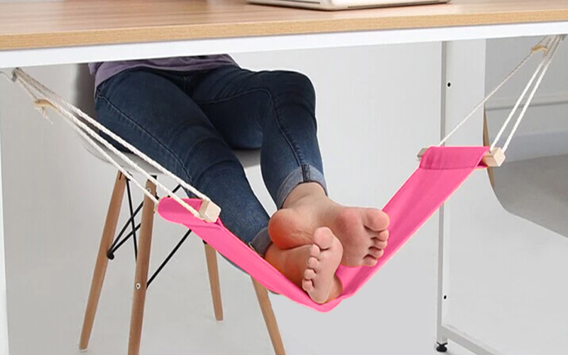 Adjustable Underdesk Foot Hammock