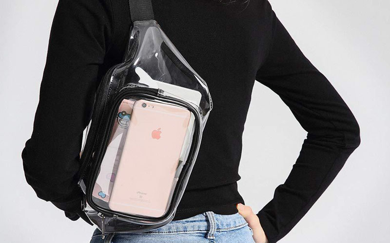 Clear Plastic Fanny Bag With Two Pockets