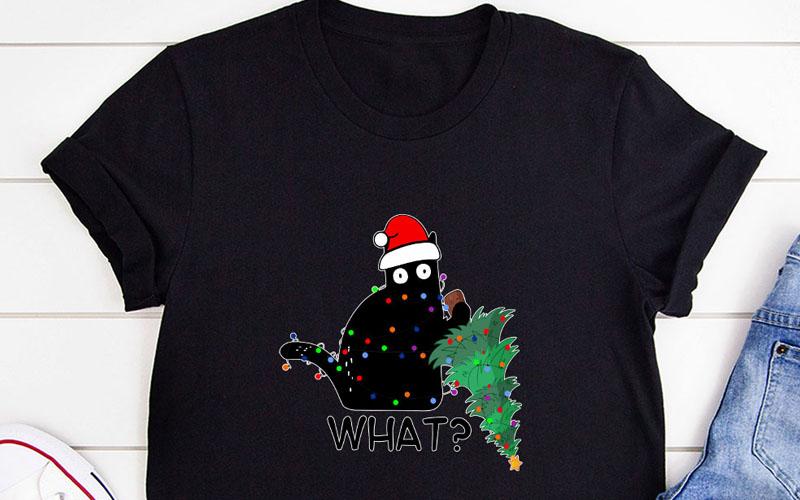 What Cat Christmas Tree T-Shirt