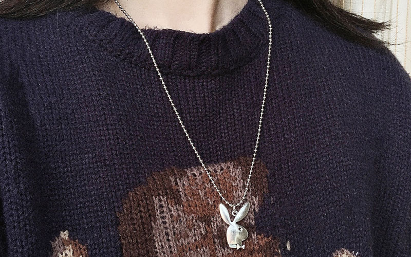 Zinc Alloy Bunny Pendant Necklace