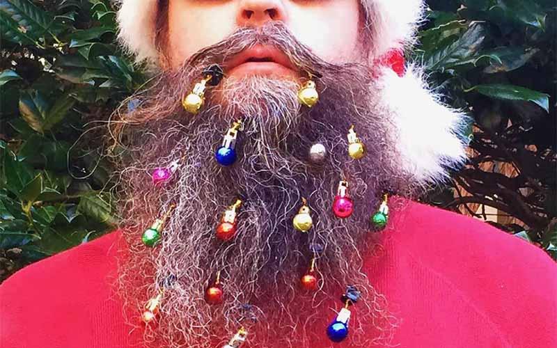12-piece LED Beard Christmas Lights