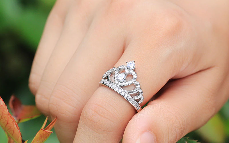 925 Sterling Silver Crown Purity Ring