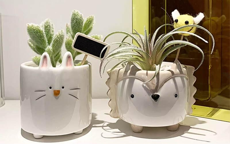 Cartoon Animal Shaped Ceramic Flower Pots