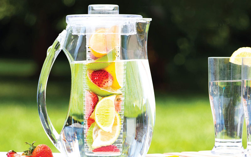 Crystal Clear Water Pitcher Fruits Infuser