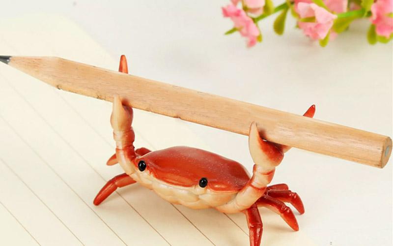 Cute Crab Pen Holder For Desk