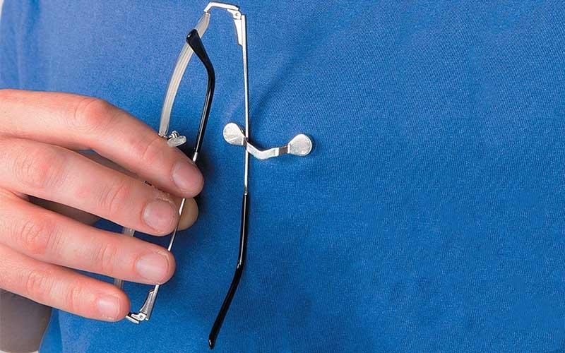 Eye Glasses Holder Magnetic Pin For Shirt