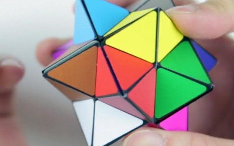 Geometric Star Cube Fidget Toy