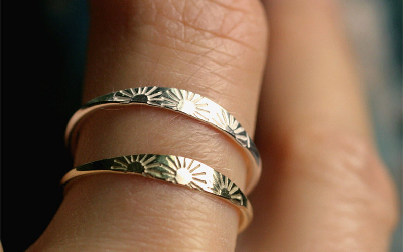 Gold Sun Ring Copper Material