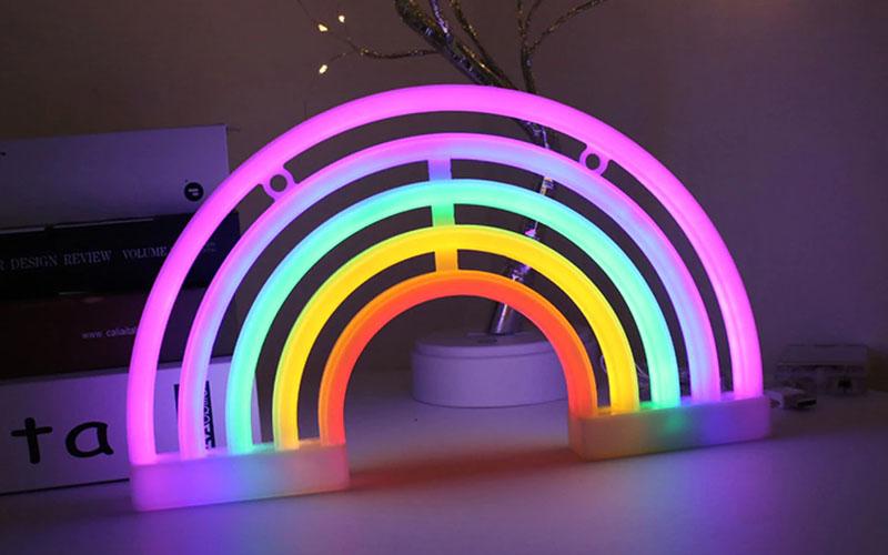 LED Rainbow Neon Sign
