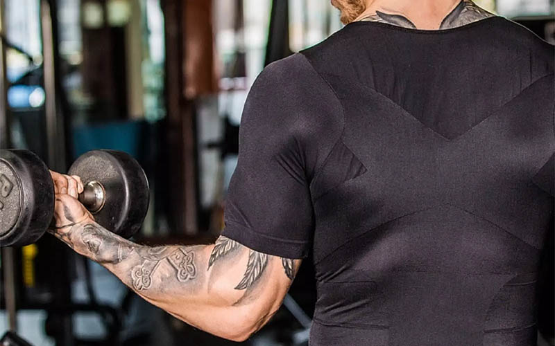Men's Posture Corrector Shirt For Fitness, Workout & Casual Wear