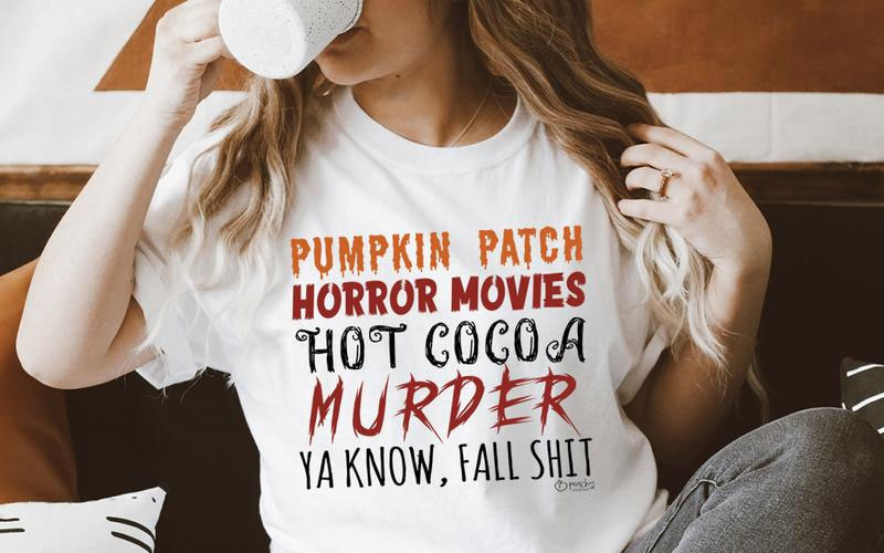 Pumpkin Patch Horror Movies Hot Cocoa Tee