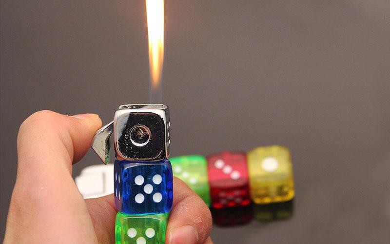 Refillable LED Dice Lighter