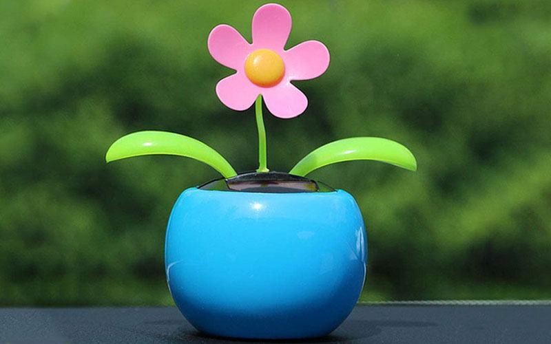 Solar Powered Dancing Flowers Toy