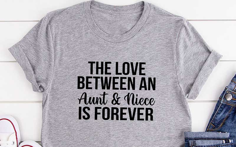 The Love Between An Aunt & Niece Is Forever T-Shirt