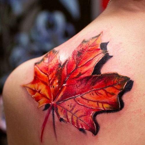 3D Large Maple Leaf