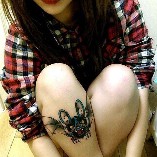 An Attacking Bat Tattoo