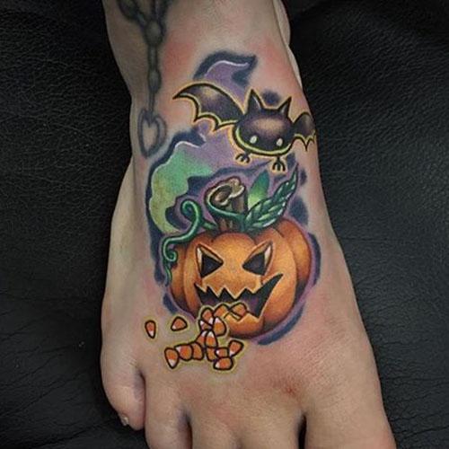 Bat & Pumpkin