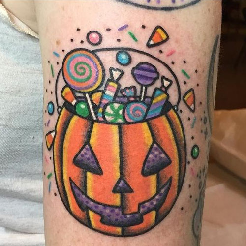 Candy Filled Pumpkin
