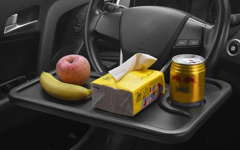 Car Steering Wheel Tray For Laptop & Food