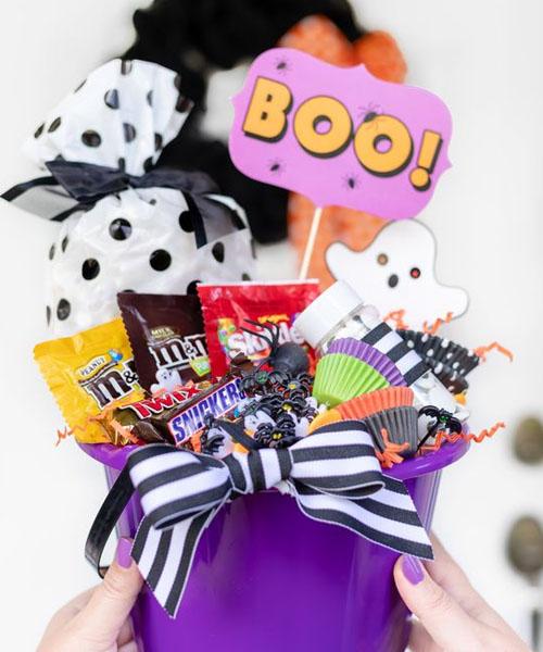 Cute spooky basket for a cutie boo