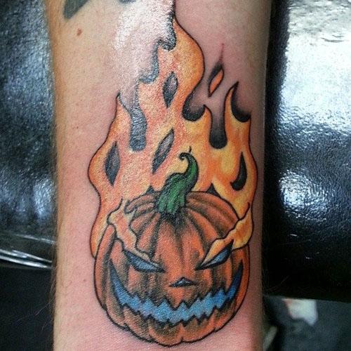 Fire Igniting Pumpkin