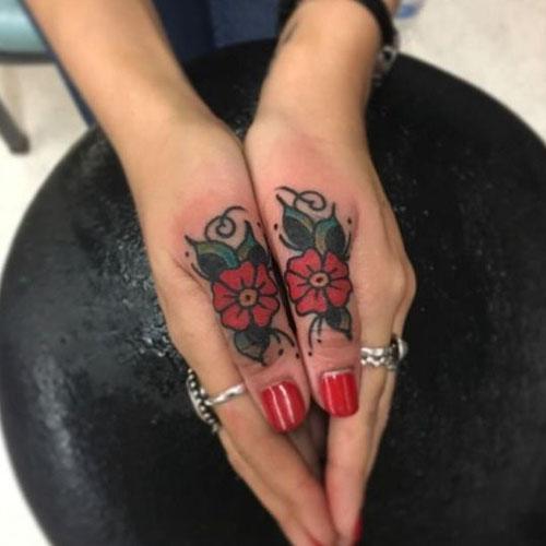 Flower on Thumbs