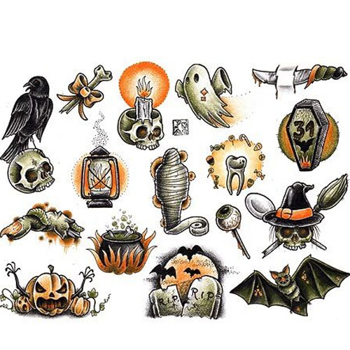Ghost Day Special Tattoos