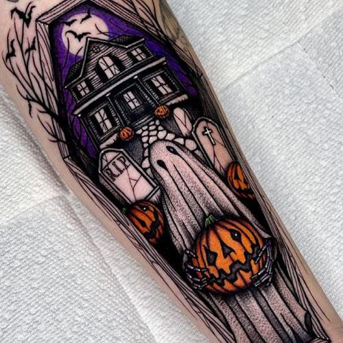 Ghost Holding A Pumpkin