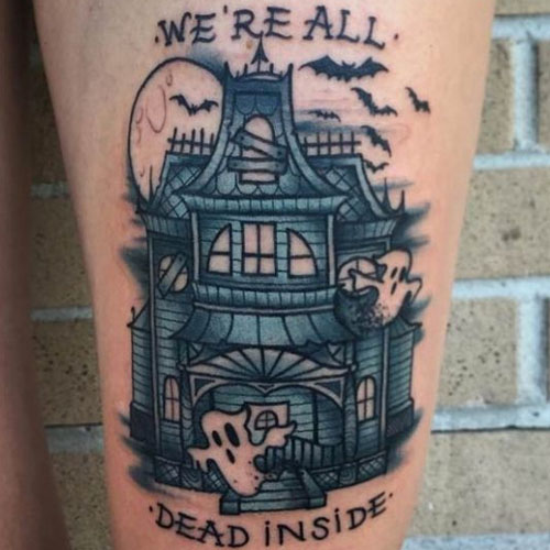 Ghost House Tattoo