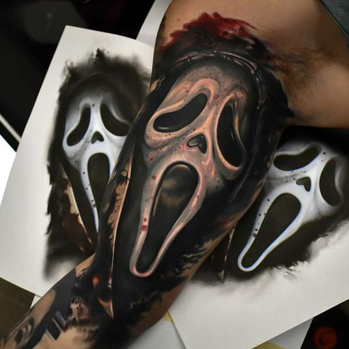 Ghost Mask On Arm