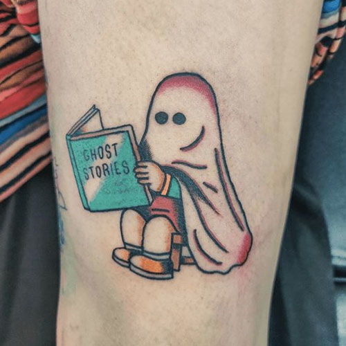 Ghost Reading Book