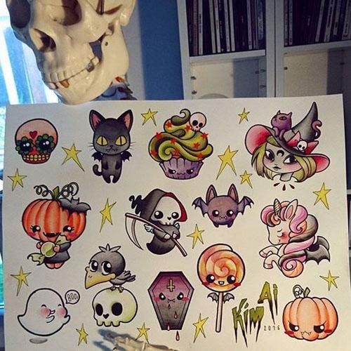 Halloween Tattoo Flash