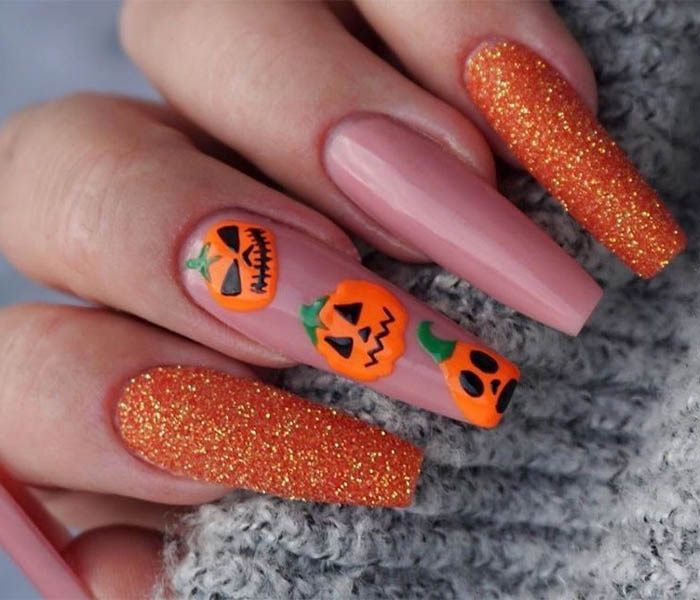 Halloween Coffin Nails