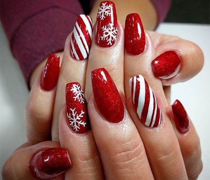 Christmas Coffin Nails