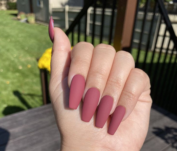 Matte maroon Color For Adorable Look