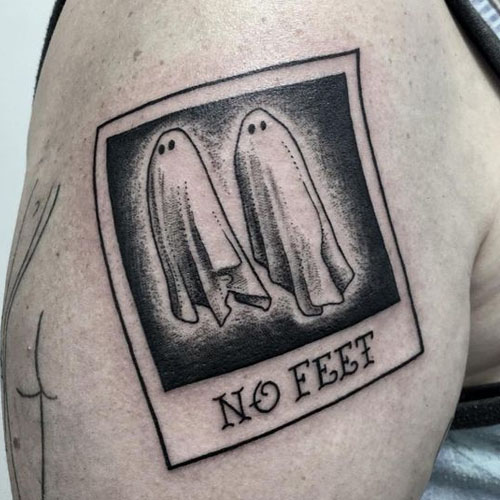 No Feet Ghosts Halloween Sleeve Tattoo